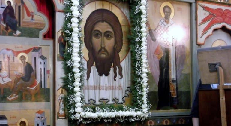 Церковь празднует перенесение Нерукотворного Образа Иисуса Христа