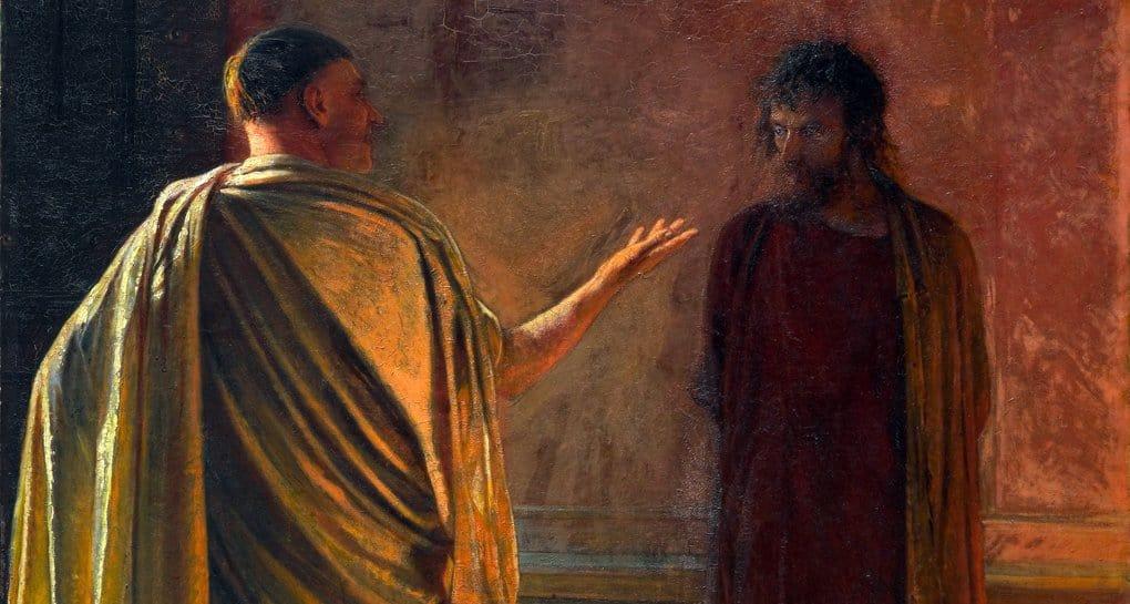 Почему Христос не возражал Пилату?