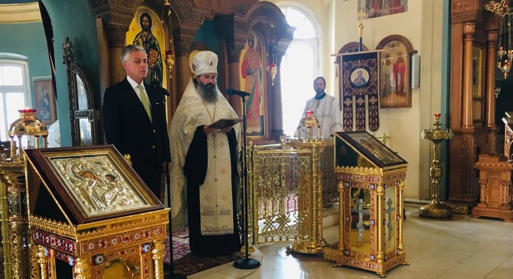 Посол США помолился в московском храме о жертвах теракта 11 сентября 2001 года