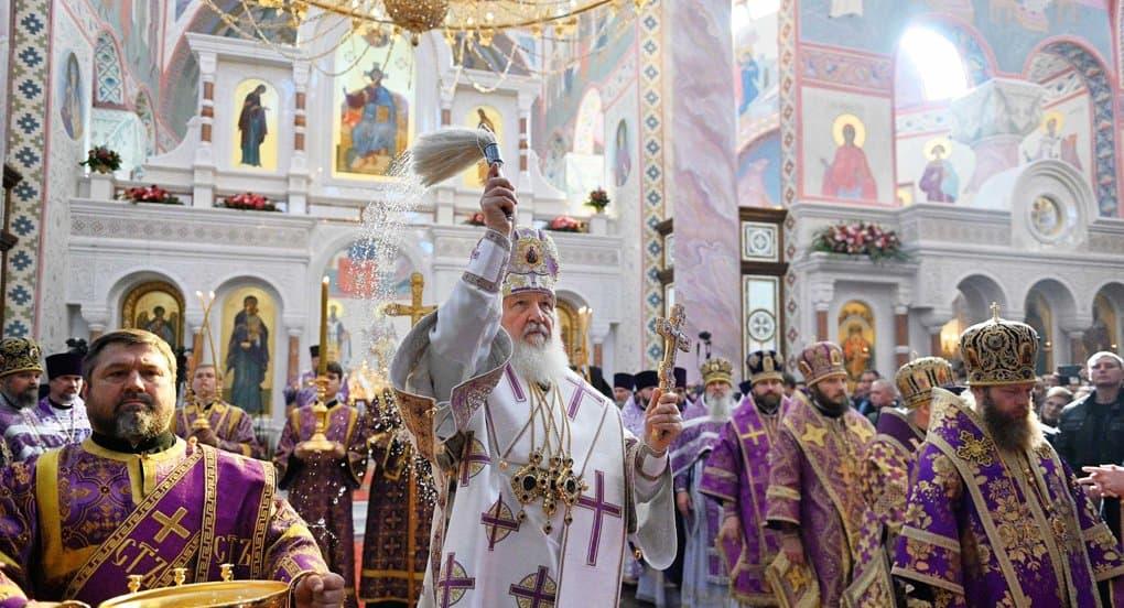 Патриарх Кирилл освятил в Самаре Софийский собор