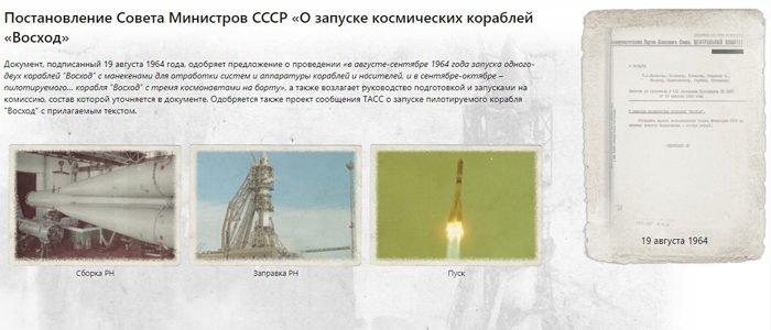 Опубликованы документы о создании корабля, из которого Алексей Леонов вышел в космос