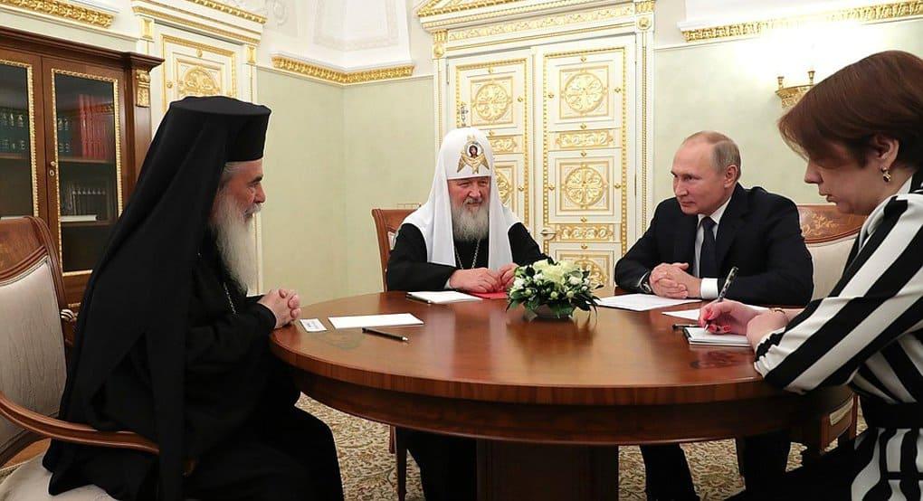 Патриарх Иерусалимский Феофил III прибыл в Москву, где ему вручат премию за укрепление православного единства