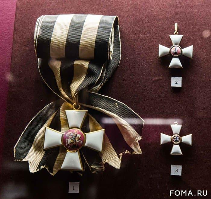 Выставка в честь 250-летия ордена святого Георгия открылась в ГИМе