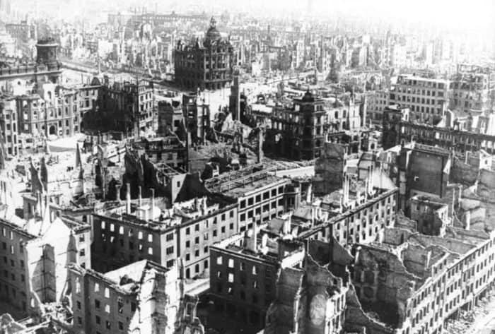 Разрушенный Дрезден. Фото из немецких архивов, 1945 год/Wikimedia Commons/СС BY 2.0