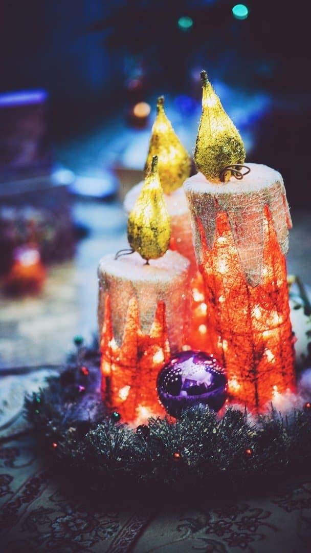 Фотообои для смартфона с рождественским настроением