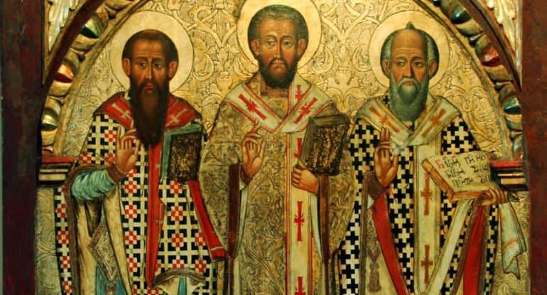 Церковь вспоминает Василия Великого, Григория Богослова и Иоанна Златоуста