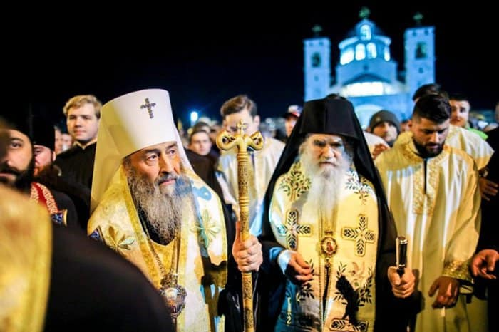 Митрополит Киевский Онуфрий возглавил в Черногории крестный ход в поддержку Сербской Церкви