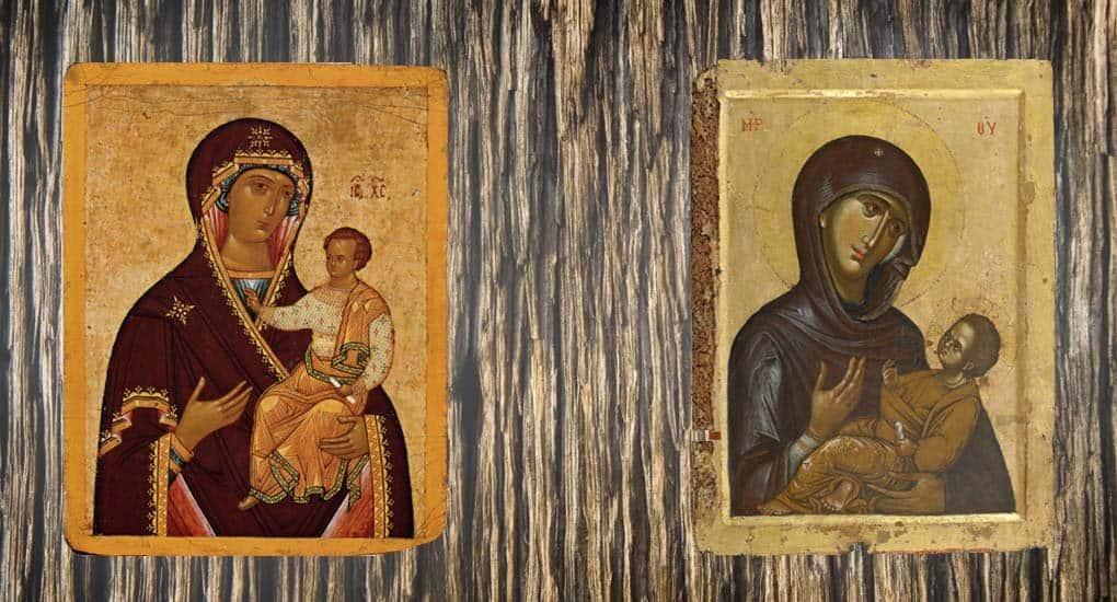Почему иконы  с одинаковым названием  не похожи друг на друга?