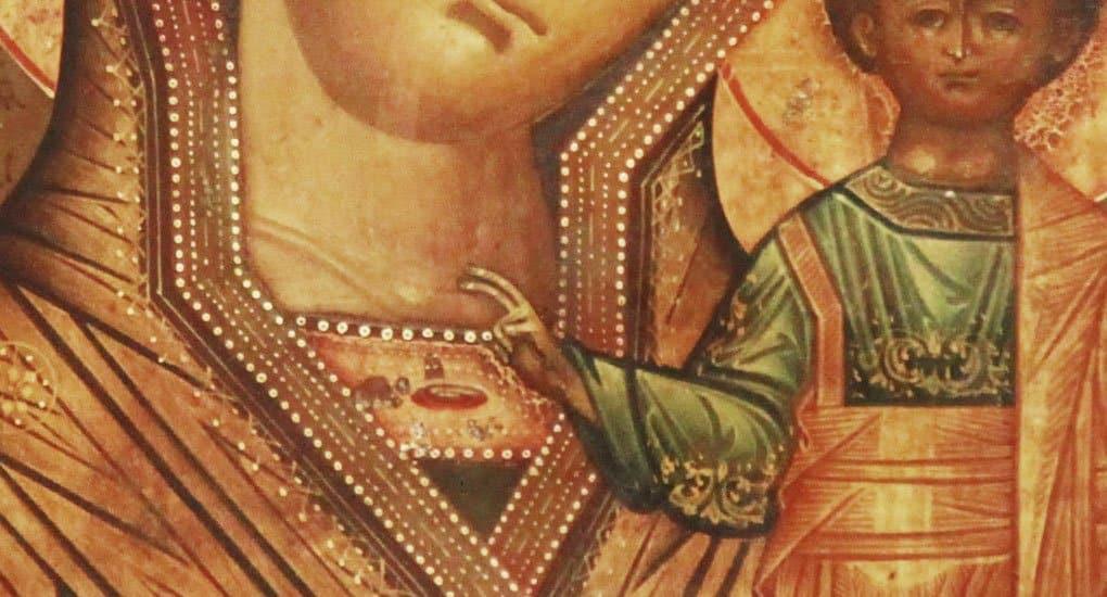 Почему на иконе Христос изображен с двоеперстием?