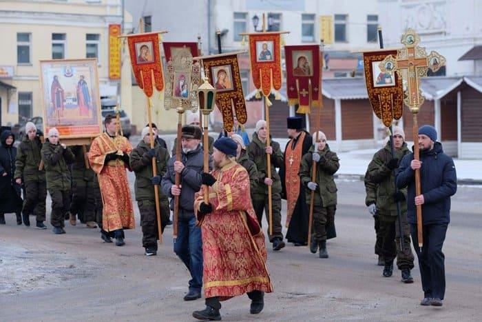 Мощи небесного покровителя Юрьева-Польского перенесли в основанный им монастырь
