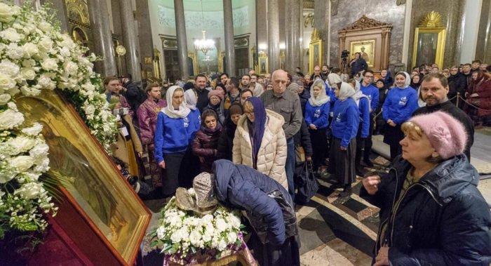 До 17 марта в Петербурге можно поклониться частице мощей Иоанна Крестителя из Иерусалима