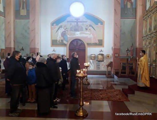 В русском храме Пхеньяна возобновились службы после карантина