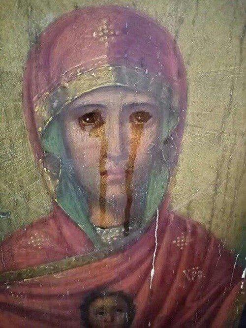 В тульском селе Урусово два месяца мироточит икона Богородицы «Знамение»
