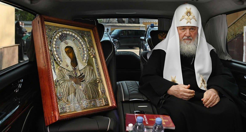 Патриарх Кирилл объехал Москву с чудотворной иконой «Умиление»