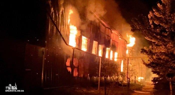 В Одессе неизвестные подожгли Свято-Успенский монастырь
