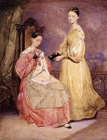 Флоренс и Парфенона НайтингейлУильям Уайт Уоррен, 1836