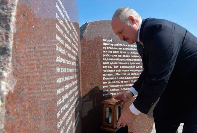 В Беларуси открыли мемориал в память о сожженных фашистами могилевских деревнях