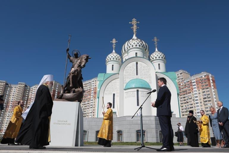 Памятник святому Георгию Победоносцу открыли в Красногорске