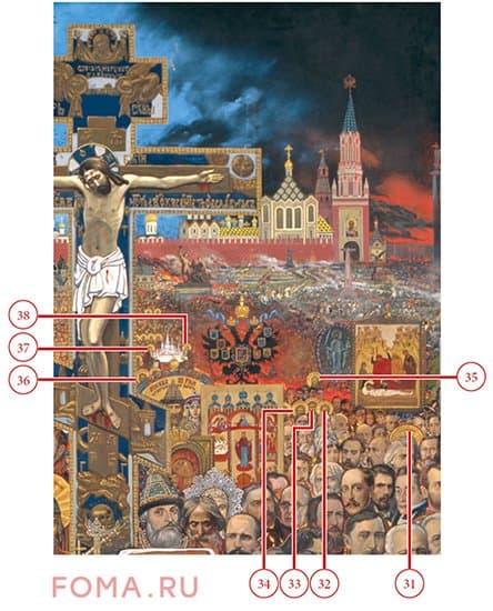 Эпическая картина Глазунова «Вечная Россия»: каких святых на ней можно найти и почему?