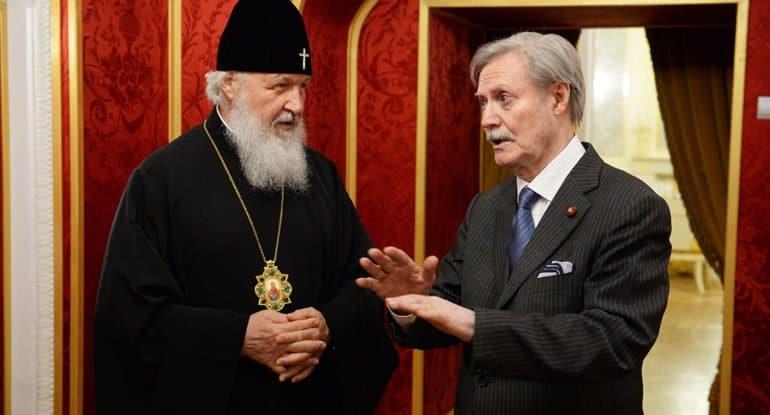 Патриарх Кирилл признателен Юрию Соломину за внимание к духовной миссии культуры