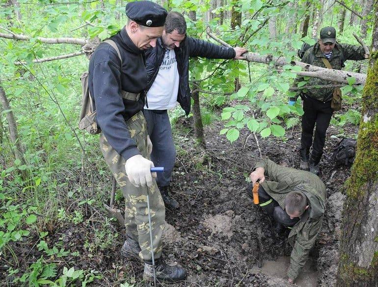 Останки 143 советских воинов нашли в Калужской области