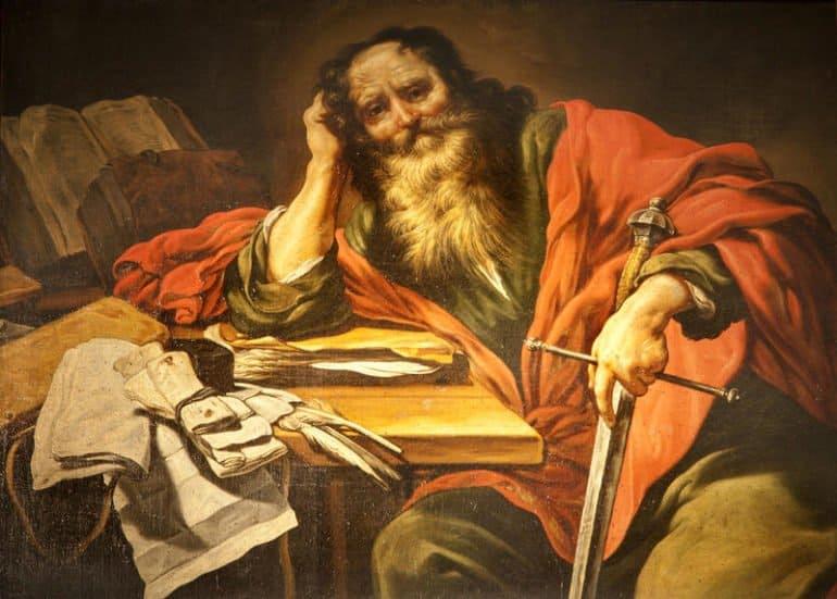 Изображение апостола Павла в церкви Святого Северина, Париж, Франция