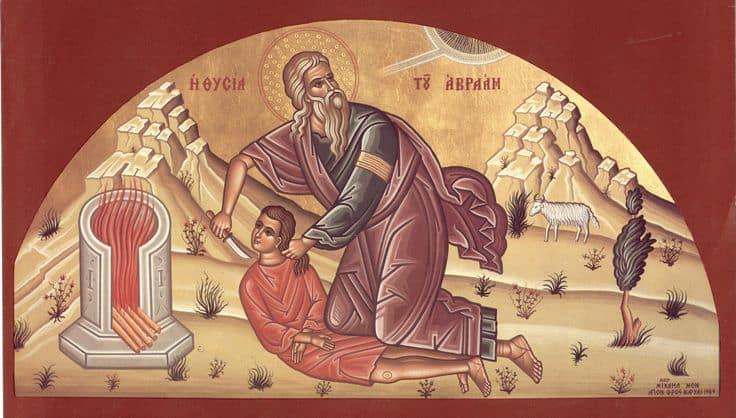 Как изображают  праотца Авраама?