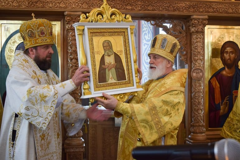На первой в Беларуси АЭС освятили храм святого Серафима Саровского