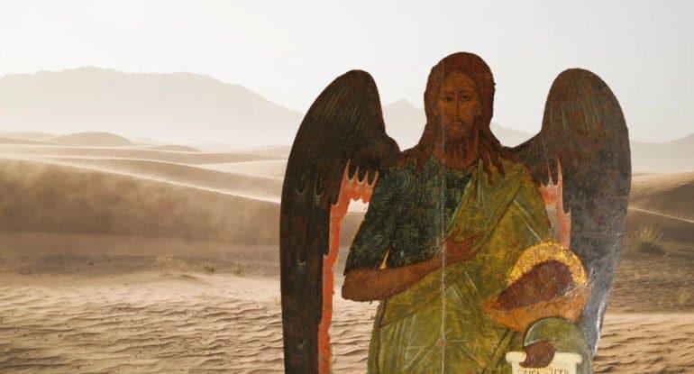 Почему на иконе Иоанн Предтеча изображен с двумя головами?