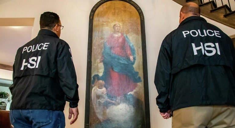 Украденную в Италии картину XIX века с Девой Марией нашли в Техасе
