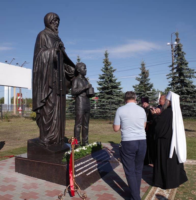 Редкий памятник «отцу» монашества Антонию Великому открыли в Дзержинске