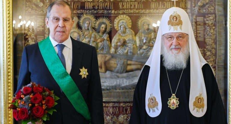 Глава МИД России Сергей Лавров награжден церковным орденом Славы и чести I степени