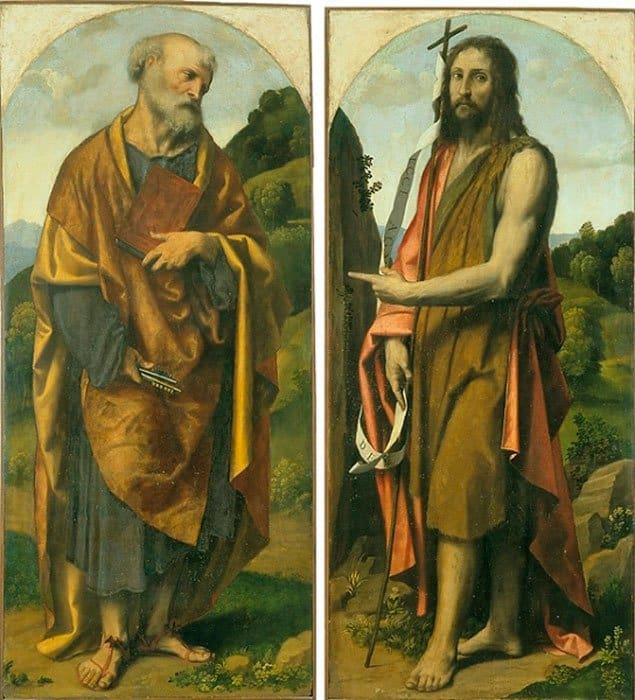 Св. Петр и Св. Иоанн Креститель. Алессандро Бонвичино (ок.1498-1554)