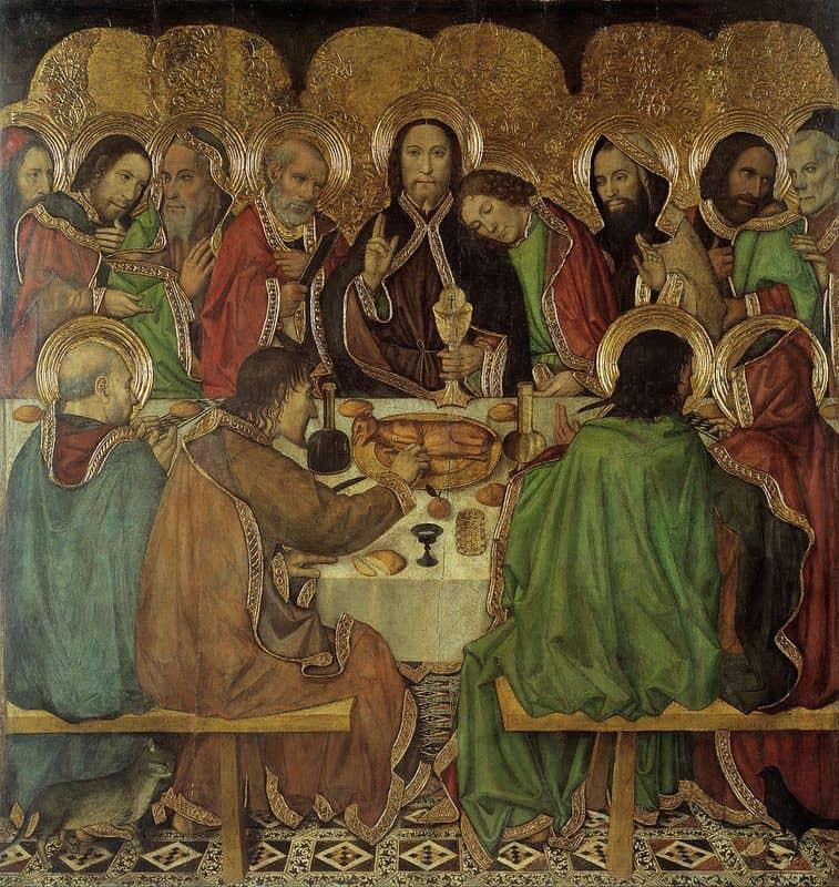 Тайная вечеря. Хайме Уге, 1470