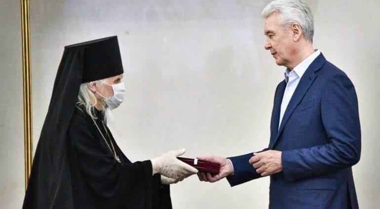 Епископ Орехово-Зуевский Пантелеимон награжден знаком отличия «За заслуги перед Москвой»