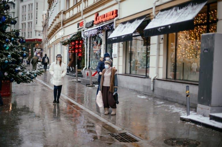 Пост-новогодняя Москва 2020-2021 в фотографиях