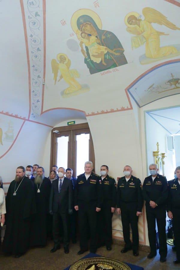 В петербургском Адмиралтействе открыли отреставрированный домовый храм