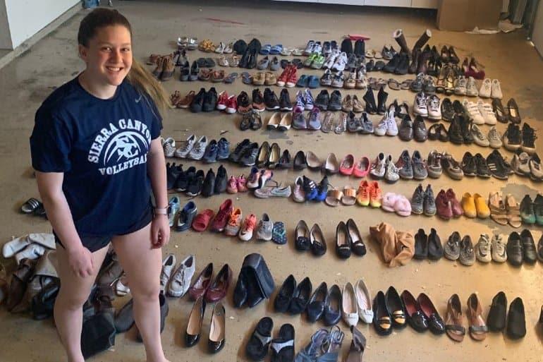 12-летняя американка раздала бездомным более 30 тысяч пар обуви