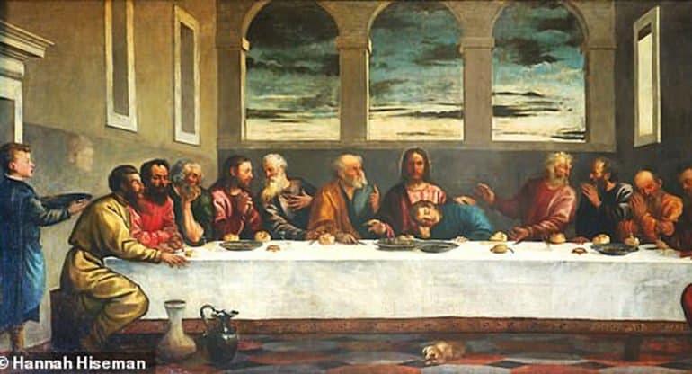 Найдена картина Тициана «Тайная вечеря», на которой художник изобразил себя