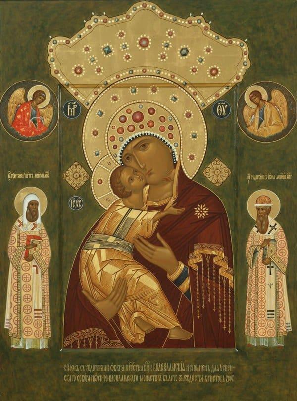 Церковь чтит Волоколамскую икону Божией Матери