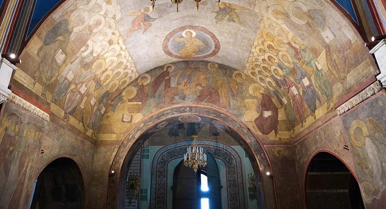 Фрески Андрея Рублева в Успенском соборе Владимира теперь можно рассмотреть в деталях