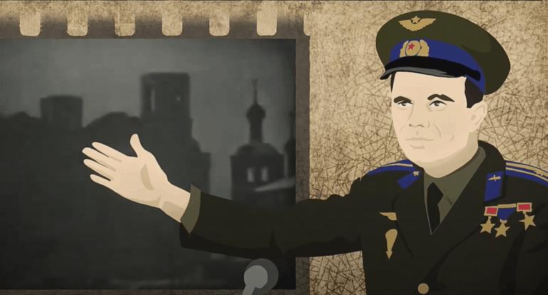 Незапланированная речь Юрия Гагарина про снос Храма Христа Спасителя