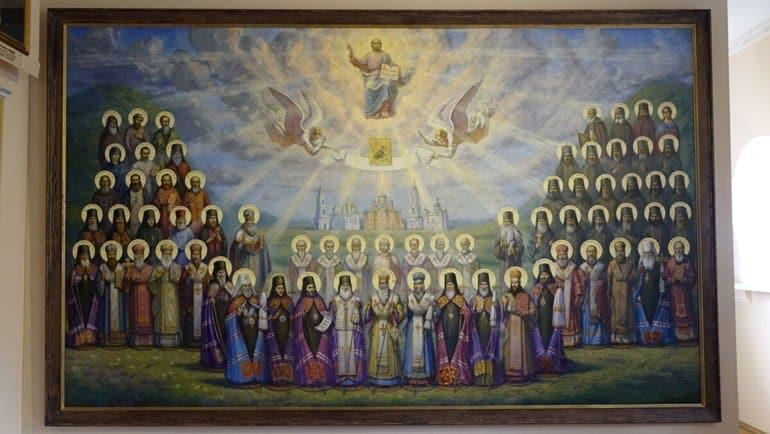 На Украине создали масштабное панно Собора Полтавских святых