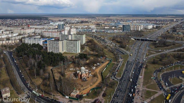 В Минске заложили памятную капсулу в строящийся Благовещенский храм