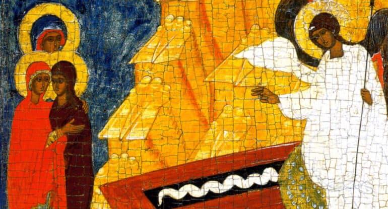 Есть ли икона жен-мироносиц и кто на ней изображен?