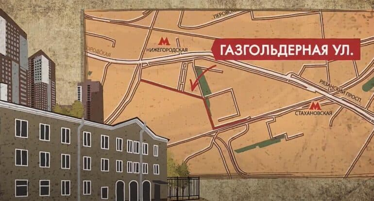 Газгольдерная— история улицы за1минуту