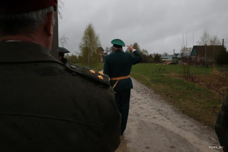 Бессмертный полк офлайн в селе Новофетинино Владимирской области