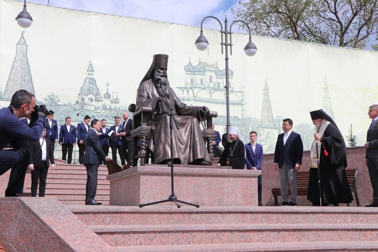 В Волоколамске открыли памятник митрополиту-богослову Питириму (Нечаеву)