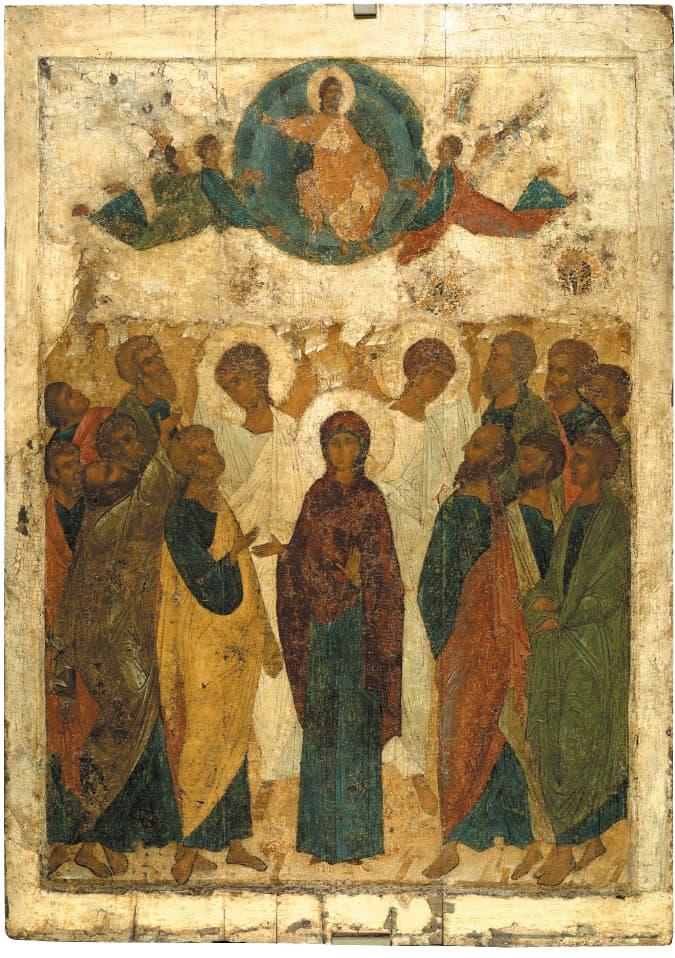 Почему на иконе Вознесения изображают 12 апостолов? Ведь Иуда же предал Христа!