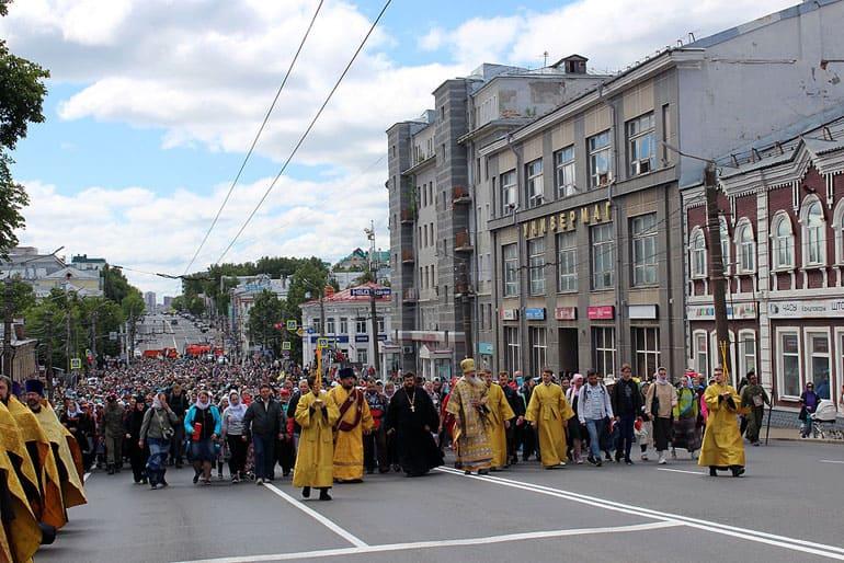 В год 500-летия первого упоминания Великорецкого образа на Вятке начался традиционный крестный ход
